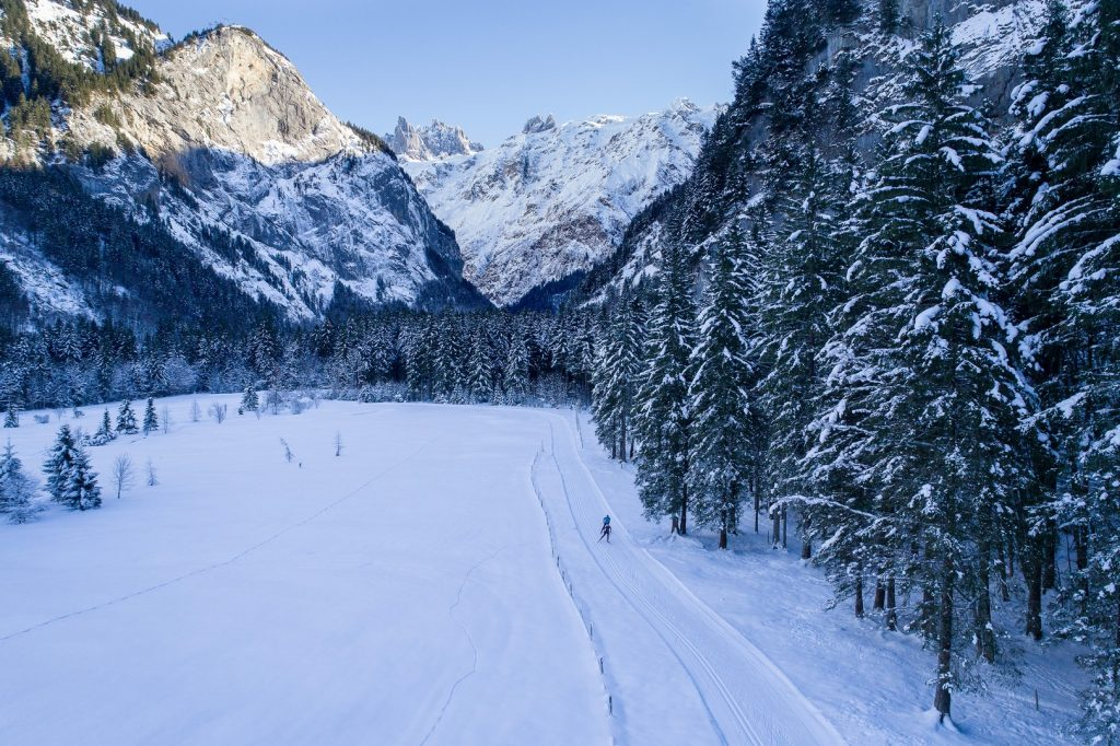 Cross country skiing engelberg